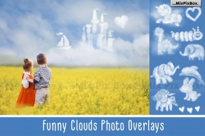 Funny Clouds Photo Overlays