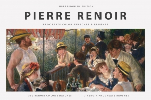 Pierre - Auguste Renoir's Procreate Brushes & Color Swatches