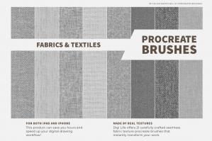 Fabrics & Textiles Procreate Brushes & Color Palette