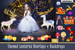 Themed Lantern Overlays and Backdrop