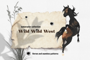 Wild Wild West Watercolor Collection