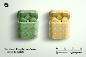 Wireless Earphone Case Mockup