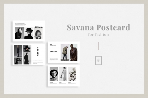 Savana - Fashion Postcard