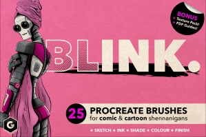 Blink: Procreate Brush Set for Comic and Cartoon Styles