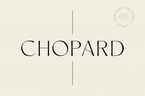 Chopard Font Family