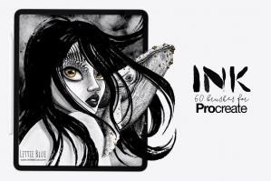 60 Ink Brushes for Procreate