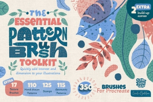 The Essential Pattern Brush Toolkit for Procreate