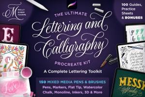 The Ultimate Lettering and Calligraphy Procreate Kit