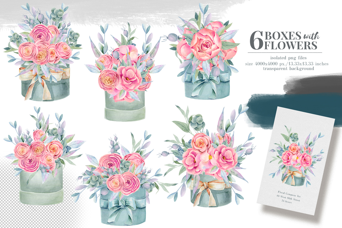 Floral Boxes Collection