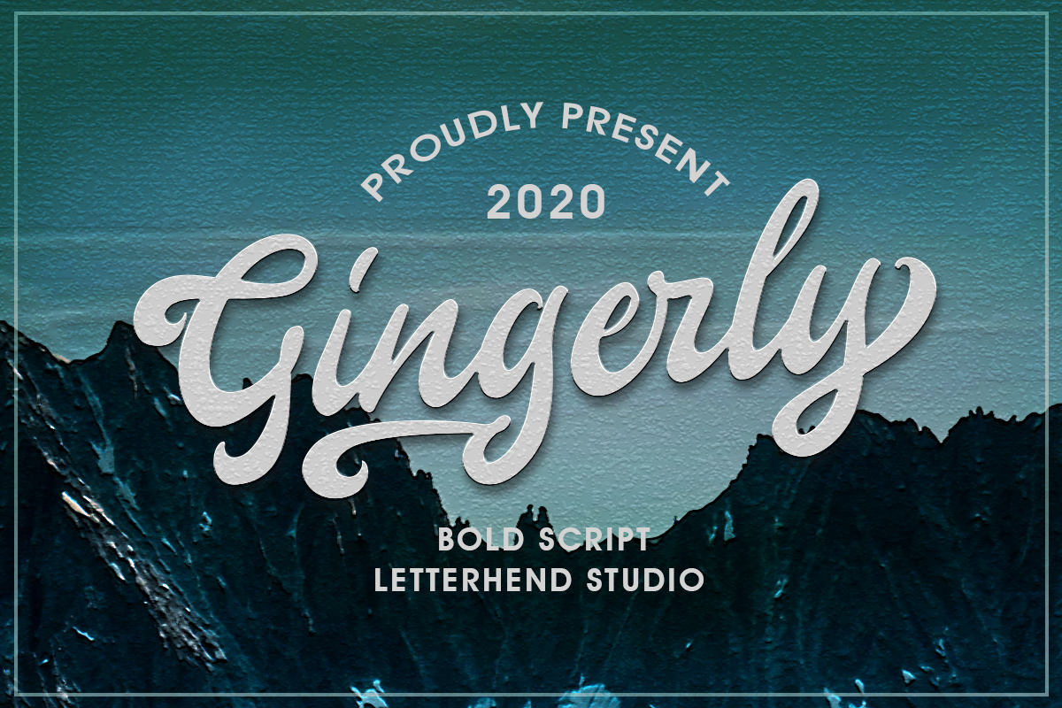 Gingerly - Bold Script Typeface