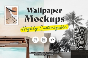 Highly Customizable Wallpaper Mockups