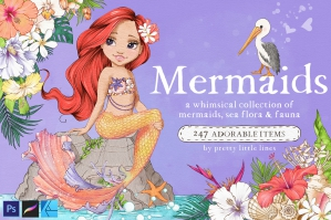 Mermaids – A Whimsical Illustration Collection