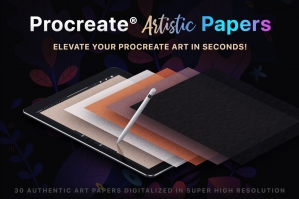 Procreate Artistic Digital Papers