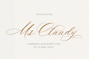 Ms Claudy - Wedding Calligraphy Font