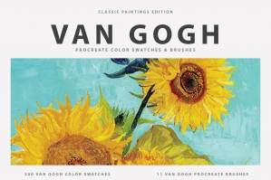 Van Gogh's Art Procreate Brushes & Color Swatches