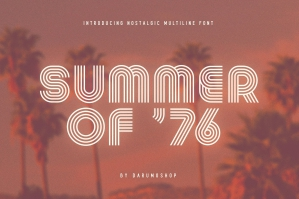 Summer Of 76 - Multi-Line Font