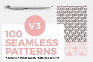 100 Seamless Photoshop Patterns Version 3