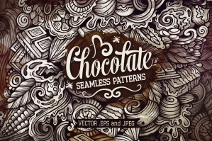 Chocolate Graphics Doodle Patterns