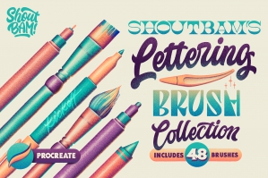 Shoutbam Lettering Brush Collection