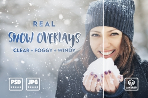 Real Snow Overlays Pack