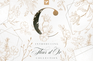 Fleur d'Or Graphic Collection