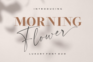 Morning Flower Font Duo