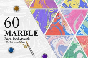 60 Rainbow Marble Paper Backgrounds