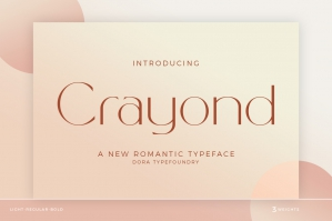Crayond - A New Romantic Typeface
