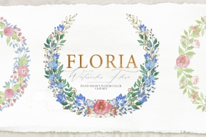 Collection of Floristic Cliparts