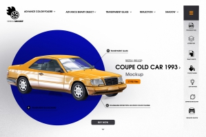 Coupe Old Car 1993 Mockup