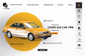 Coupe Old Car 1998 Mockup