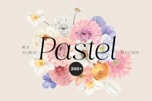 Pastel Flowers - Watercolor Floral Collection
