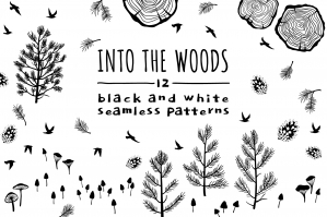 Into The Woods, 12 Seamless Patterns