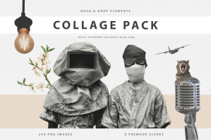 The Ultimate Collage Creator Kit - 243+ Drag & Drop Elements