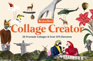 Bestsellers Collage Creator - Pro Edition