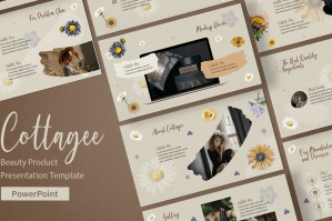 Cottagee - Beauty Product Google Slides Presentation Template