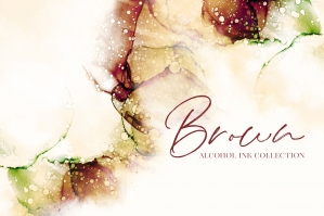 Brown Alcohol Ink Textures