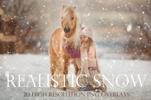 Realistic Snow Photography Overlays