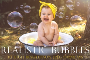 Realistic Soap Bubble Photography Overlays