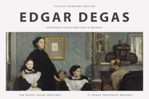 Edgar Degas Procreate Brushes & Color Swatches