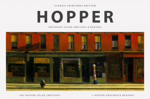 Hopper's Procreate Brushes & Color Swatches