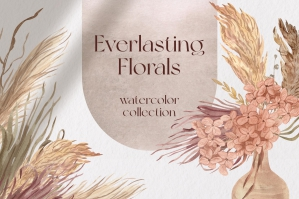 Everlasting Florals Boho Watercolor Collection