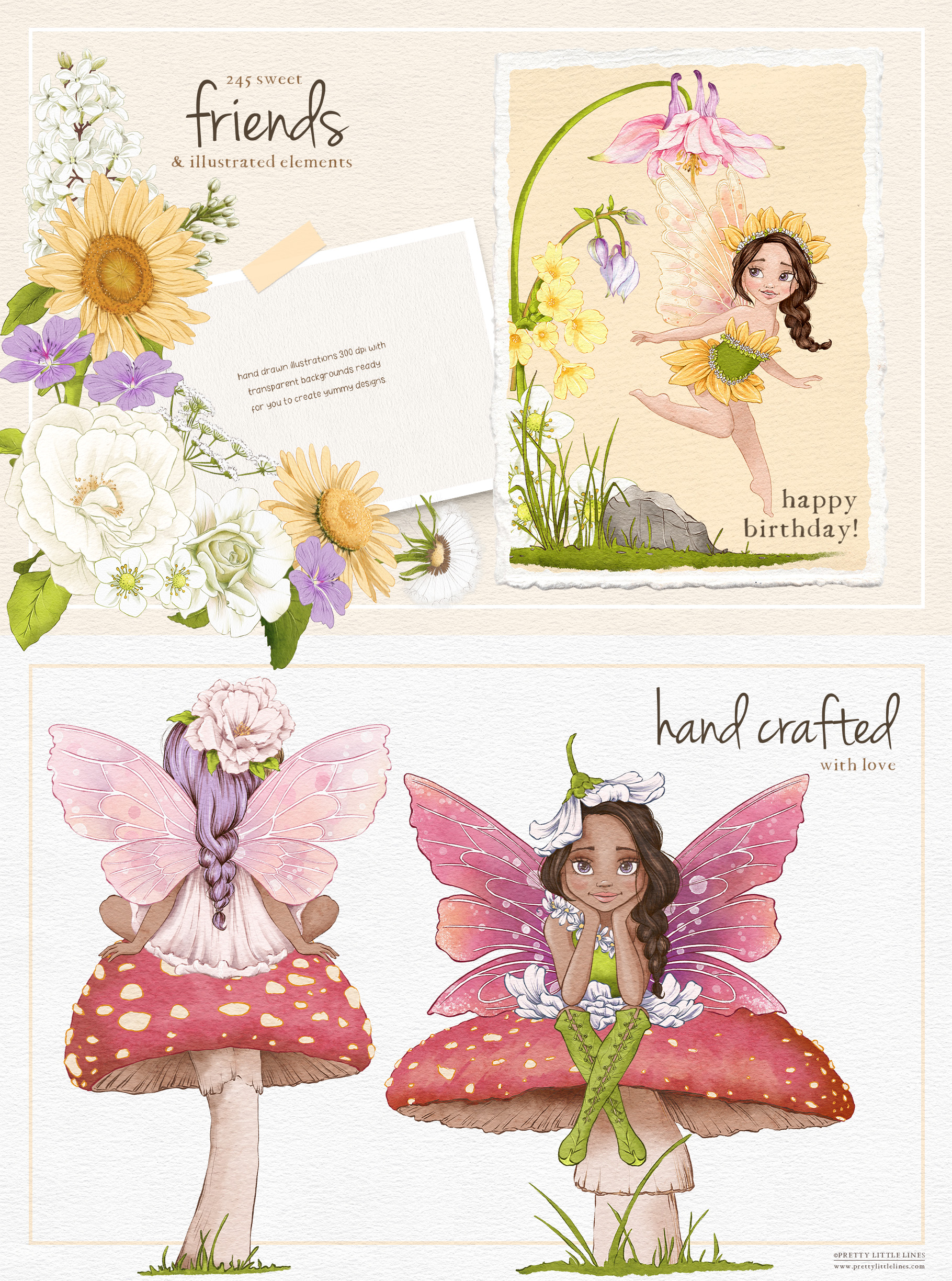 Fairies – A Whimsical Woodland Illustration Collection