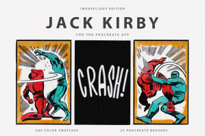 Jack Kirby's Procreate Brushes & Color Swatches