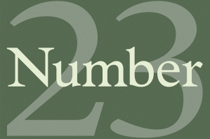 Number 23 Typeface