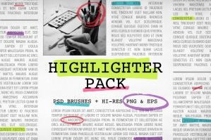 Highlighter Pack Vector Elements