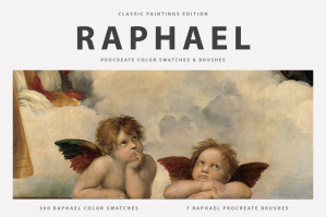 Raphael Procreate Brushes & Color Swatches