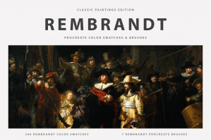 Rembrandt's Procreate Brushes & Color Swatches