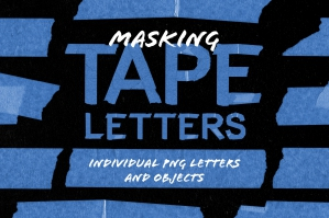 Masking Tape Letters & Objects