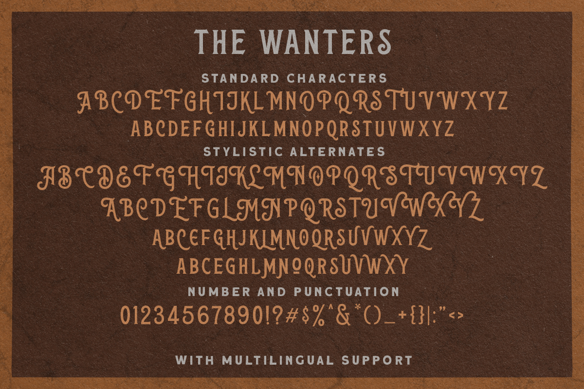 The Wanters - Display Typeface